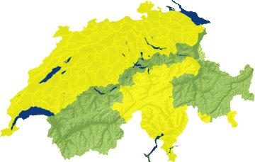Karte Schweiz Unwettergefahren